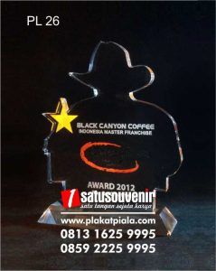 Plakat Laser Grafir Penghargaan Black Canyon Coffee