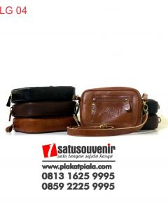 Leather Gift Poch Kulit Hitam Coklat